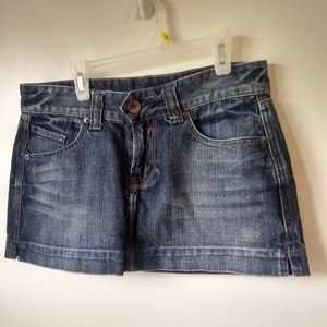 X2 ladies mini jean skirt sz 0